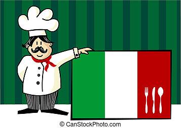 séf, konyha, olasz