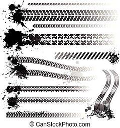 sín, állhatatos, autógumi