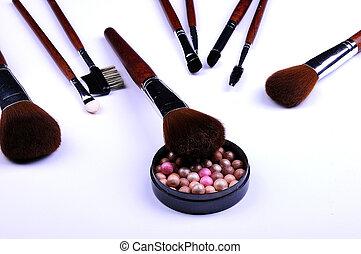 söpör, kozmetikai, por