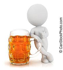 sör, 3, rokonszenvek, fehér, emberek