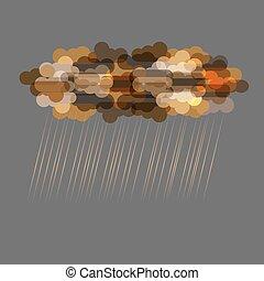 sötét felhő, áttetsző, eső
