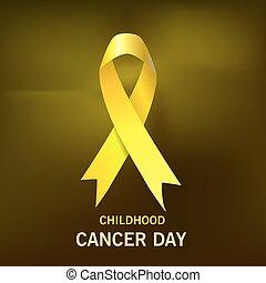 sötét, rák, sárga, day., háttér., vektor, gyermekkor, szalag