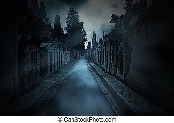 sötét, temető, háttér
