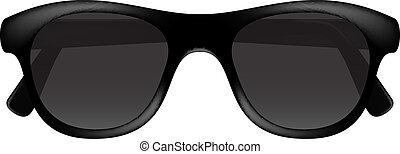 sötét, tervezés, retro, szemüveg