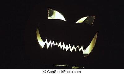 sütőtök halloween, éjszaka