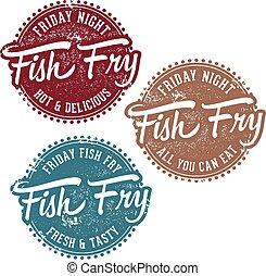 süt, bélyeg, szüret, fish
