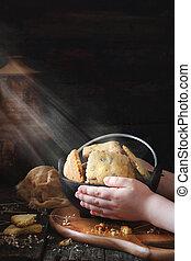 süti, tál, kitart gyermekek