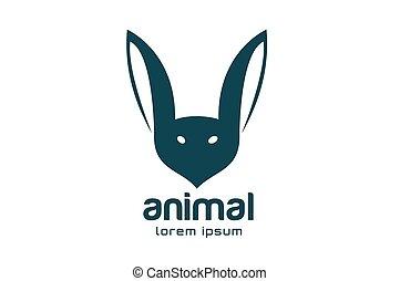 sablon, elvont, jel, arc, vektor, állat