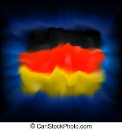sablon, elvont, vektor, kék, grafikus, háromszínű, német, sky., hazafias, design., transzparens, háttér., németország, háttér, kreatív, lobogó