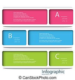 sablon, eps, számozott, használt, megvonalaz, 10, infographics, tervezés, /, vektor, website, kapcsoló, szalagcímek, horizontális, grafikus, modern, lenni, alaprajz, format., vagy, konzerv