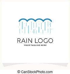 sablon, eső, jel, tervezés, ihlet