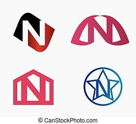 sablon, jel, ikon, levél n, tervezés