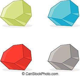 sablon, jel, megkövez, eps, színes, design., vektor, 10., ábra