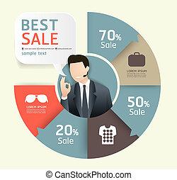 sablon, számozott, használt, kiárusítás, megvonalaz, előléptetés, infographics, /, vektor, címke, website, kapcsoló, szalagcímek, horizontális, grafikus, modern, dolgozat, mód, lenni, alaprajz, vagy, konzerv