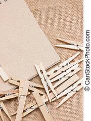 sackcloth., jegyzetfüzet, ruhacsipesz