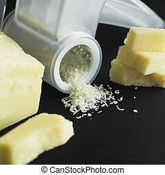 sajt, élet, mozdulatlan, parmezán