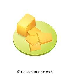 sajt, darab, cheddar sajt