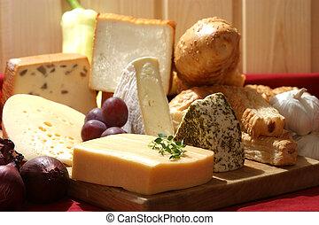 sajt, néhány, tál, szerves, friss