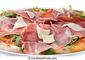 sajt pizza, sonka, olasz