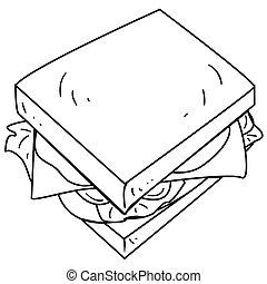sajt szendvics, szórakozottan firkálgat