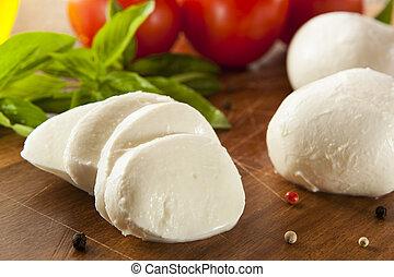 sajt, szerves, mozzarella, házi készítésű