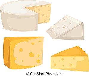 sajt, vektor, elszigetelt, szelet