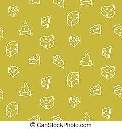 sajt, vektor, seamless, ábra, háttér, handdrawn