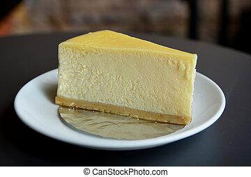 sajttorta, szelet