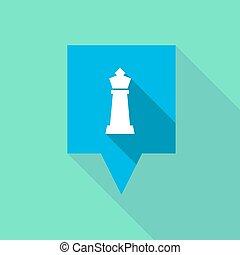 sakkjáték, alak, tooltip, hosszú, árnyék, király