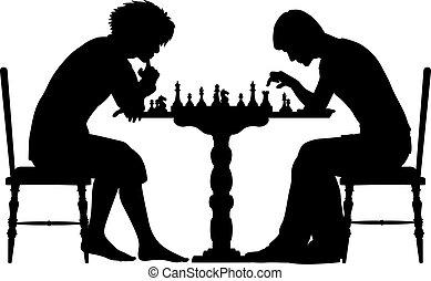 sakkjáték meccs