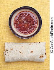 salsa, burrito, finom