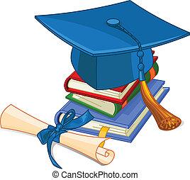 sapka, diploma, fokozatokra osztás