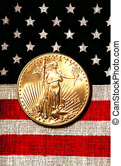 sas, arany, lobogó, jelkép, amerikai, cégtábla