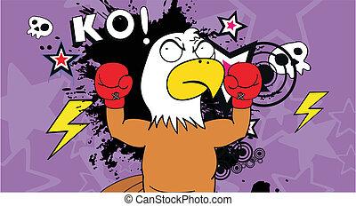 sas, bokszoló, karikatúra, background9