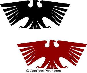 sas, címertani, császári