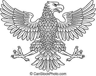 sas, címertani, jelkép, császári