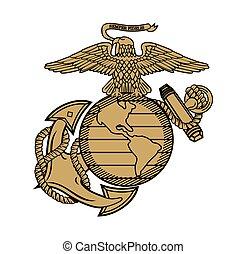 sas, egyesült, vasmacska, tengerészgyalogság, földgolyó, ega, ábra, állam, tervezés