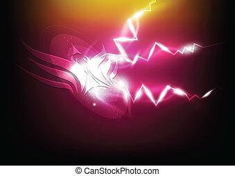 sas, jelkép, szikra, elektromos
