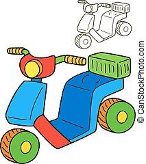 scooter., elpirul beír, oldal