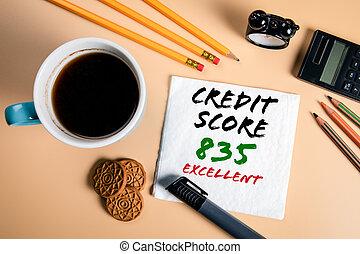 score., fogalom, kölcsönvevés, költségvetés, kiváló, hitel, opciók, alaprajzok