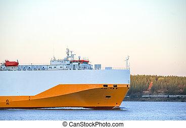 sea., teherhajó, vitorlázás, nagy