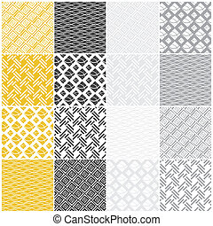 seamless, blokkok, megvonalaz, lenget, patterns:, geometriai