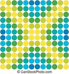 seamless., motívum, elvont, polka, háttér., retro, geometriai, pont