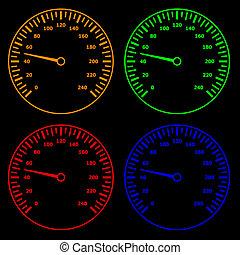 sebességmérő, vektor