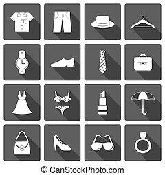 segédszervek, öltözék, állhatatos, cipők, ikonok