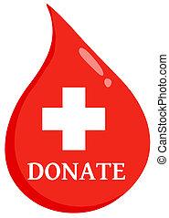 segély, csepp, adományoz, először, vér