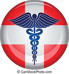 segély, gombol, először, orvosi, pusztulásnak indult