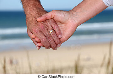 senior összekapcsol, hatalom kezezés