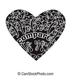 senki, compares, t-shirt., szlogen, jó, idézőjelek, párosít, you.