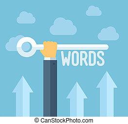 seo, keywords, fogalom, ábra, lakás
